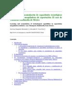 Aprendizaje y acumulación de capacidades tecnológicas 1