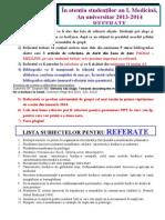 Subiecte referate biofizica 2011