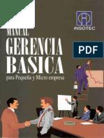 Insotec - Manual de Gerencia Básica para Pequeña y Microempresa