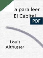 Althusser, Louis - Guia Para Leer El Capital