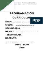 Formato de Programaciones