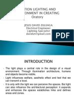 Oratorium Lighting Proposal Jesus Zuluaga