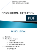 Dissolution Filtration