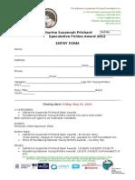 2012Spec Fiction Entry Form