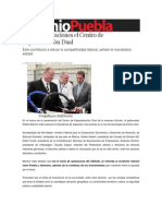 21-06-2013 Sexenio Puebla - Arranca operaciones el Centro de Especialización Dual