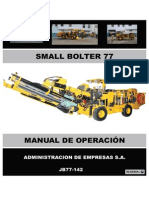 Manual de Operacion Small Bolter - Jb77-142