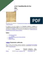 Enmiendas a la Constitución de los Estados Unidos - Wikipedia, la enciclopedia libre