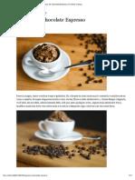 Mousse de Chocolate Espresso _ Farinha Criança