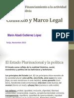 Monitoreo al Fianciamiento a la política -Tarija MARIN G.L.