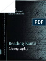 Eduardo Mendieta Editor Stuart Elden Reading Kants Geography
