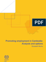 Promoting Employment in Cambodia_Analysis and Options