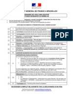 FR-Liste Des Documents Visa France