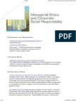 Managerial Ethics and Corporate Social Responsibility