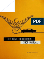 Ford Thunderbird 58 Shop Manual