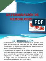 DETERMINACION HEMOGLOBINA