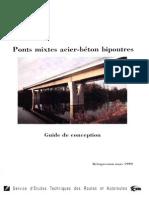Ponts mixtes acier-bأ©ton bipoutres - Guide de conception