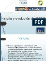 TEMA 1 HISTORIA Y EVOLUCIÓN COBIT-