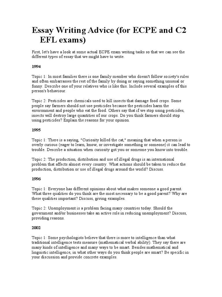 Comparison and contras essay