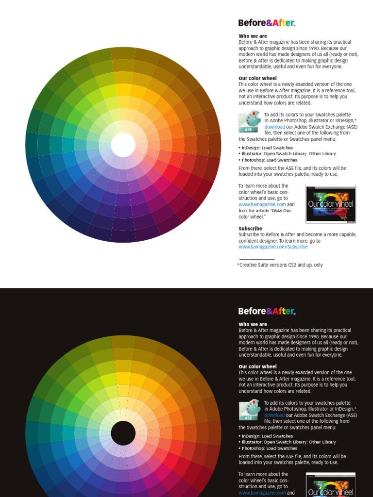 Ba Color Wheel Adobe Illustrator Adobe In Design