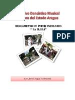 Reglamento de Inter Escolares de La Llora 2013