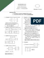 Ex 1 Matrices y Determinantes - Eval 1 - Sol_2BACH CN 2013-2014