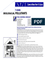 Biological Pollutants in Your Home