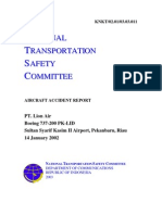 KNKT Aircraft Accident report PT Lion Air (PK_LID)