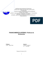 Unidad I Financiamiento interno. Politicas de dividendos.doc