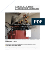 Microsoft Word - 8 Important Checks to Do Before Powering Up the Dry-Type Transformer