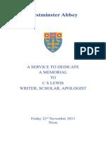 C S Lewis Service Web