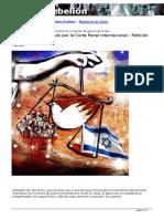 Israel debe ser juzgado por la Corte Penal Internacional. Petición Universal