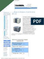 Savino Barbera, Minipompe Pneumatiche a Doppia Membrana BX 25