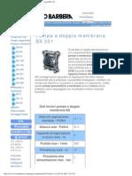 Savino Barbera, Pompe Pneumatiche a Doppia Membrana BX 251