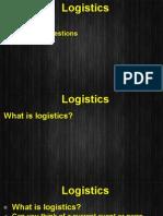 Unit 9 - Logistics