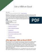 Introducción a VBA en Excel 2010