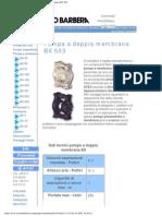 Savino Barbera, Pompe Pneumatiche a Doppia Membrana BX 503