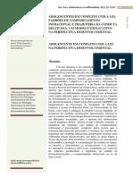 (Bazon, Komatsu, Panosso, Estevão, 2011) Adolescentes em conflito com a lei na perspectiva desenvolvimental