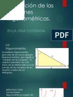 Aplicación de las funciones trigonométricas