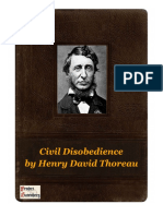 THOREAU Civil Disobedience