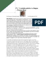 Crónica Nº 171 - A minha pátria é a língua portuguesa.
