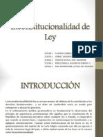 Inconstitucionalidad de Ley