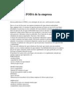 Analisis FODA de La Empresa Socosani