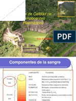 Control de Calidad de Componentes Plasmáticos