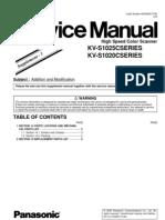 PananSonic Kv-s1025c Series- Kv-s1020c Series scaner service manual