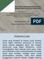 Alternatif Perkuatan Tanah Pasir Menggunakan Lapis