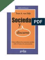 Sociedad y Discurso Teun a. Van Dijk