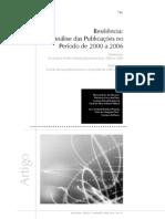 2008. Resiliência - análise das produções no período de 2000 a 2006
