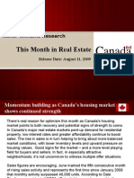 This Month In Real Estate Canada August 2009