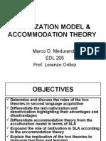 NATIVIZATION MODEL & ACCOMMODATION THEORY23