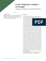 Identidades em crise - imigrantes, emoções e saúde mental em Portugal